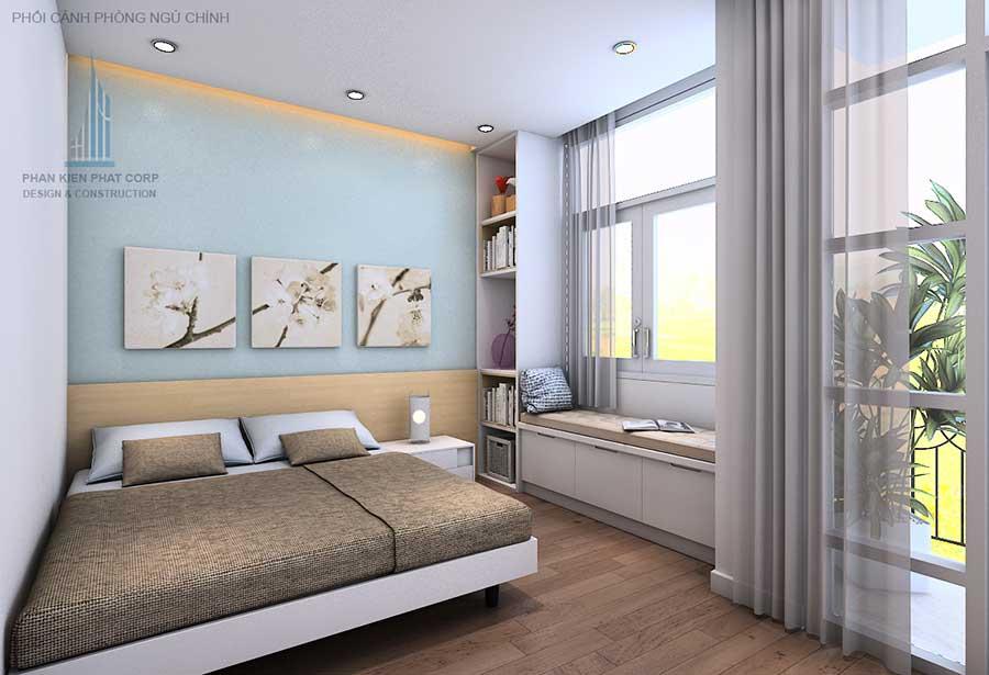 Phòng ngủ master - nhà 4 tầng hiện đại 8x15m