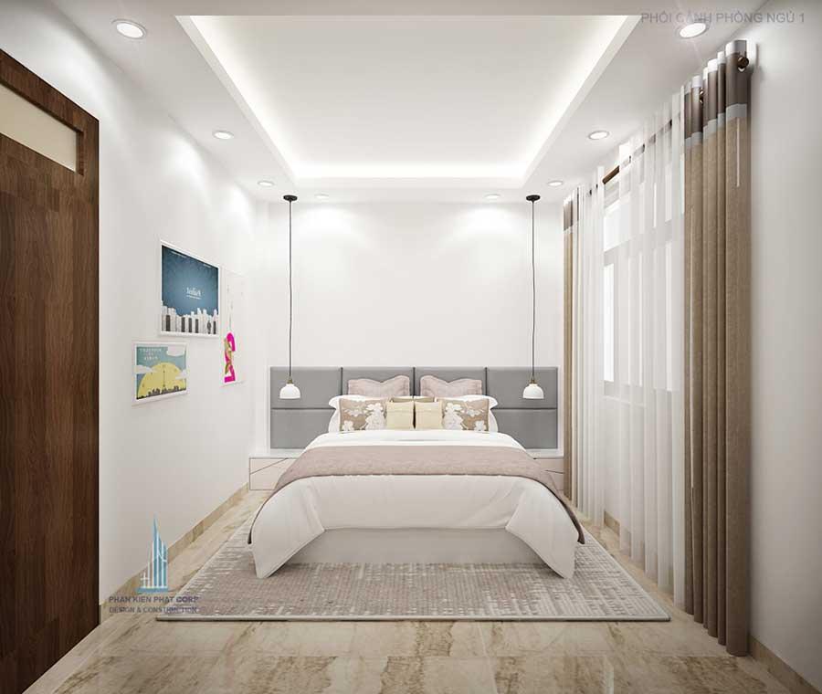 Phòng ngủ 1 góc 1 - nhà 3 tầng 8x14.5m