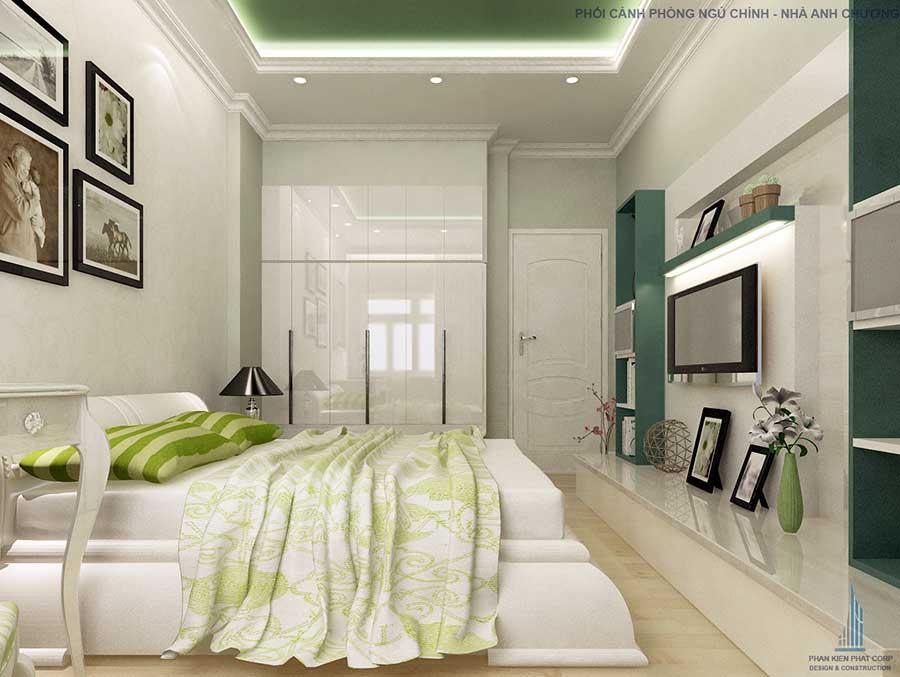 Phòng ngủ chính - nha 1 tang 10x15m