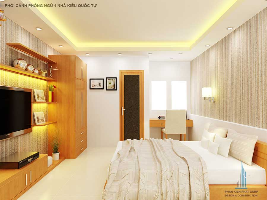 Nhà ống 2 tầng - Phòng ngủ 1 góc 1