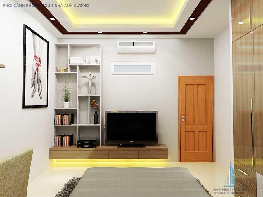 Phòng ngủ nhà 2 tầng 5x15m