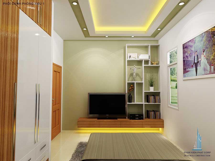 Thiết kế nhà 2 tầng - Phòng ngủ 1 góc 1