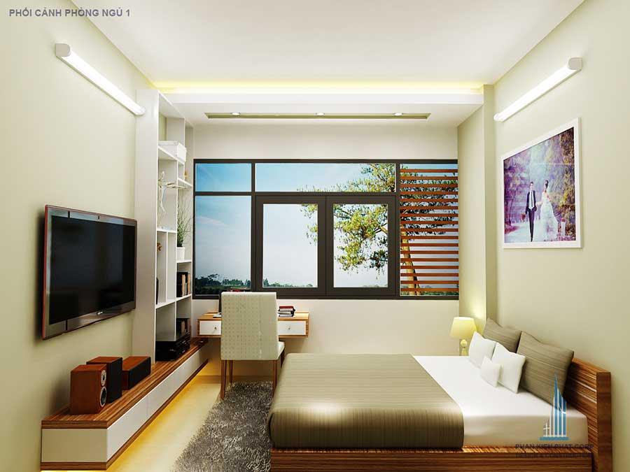 Phòng ngủ 1 - xây biệt thự phố 3 tầng