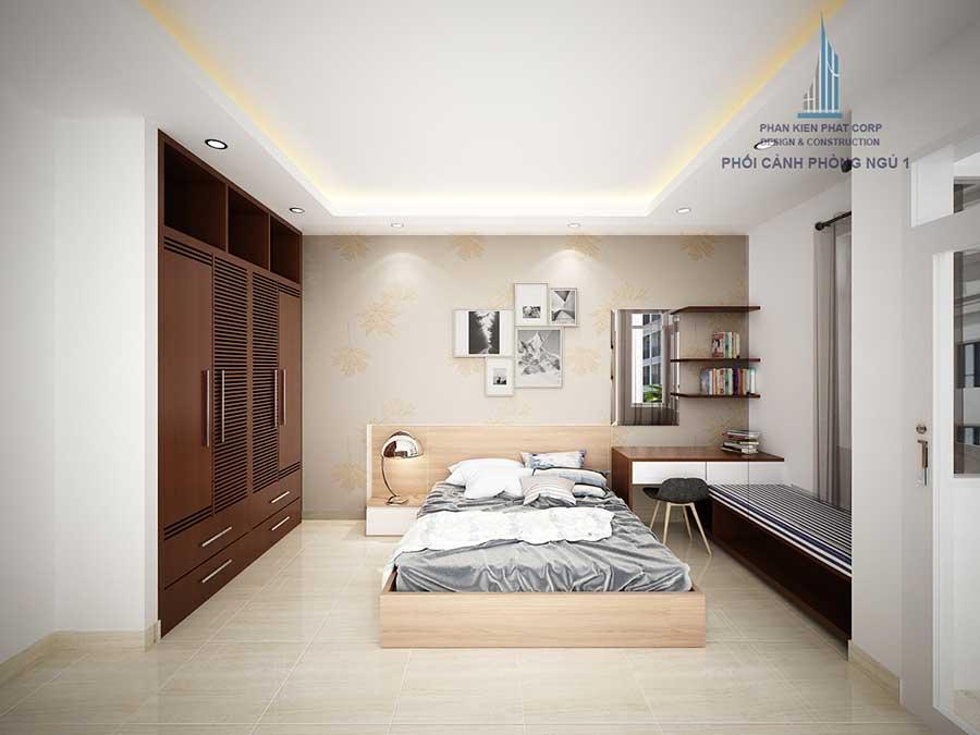 Thiết kế nhà 3 tầng - Phòng ngủ 1 góc 1