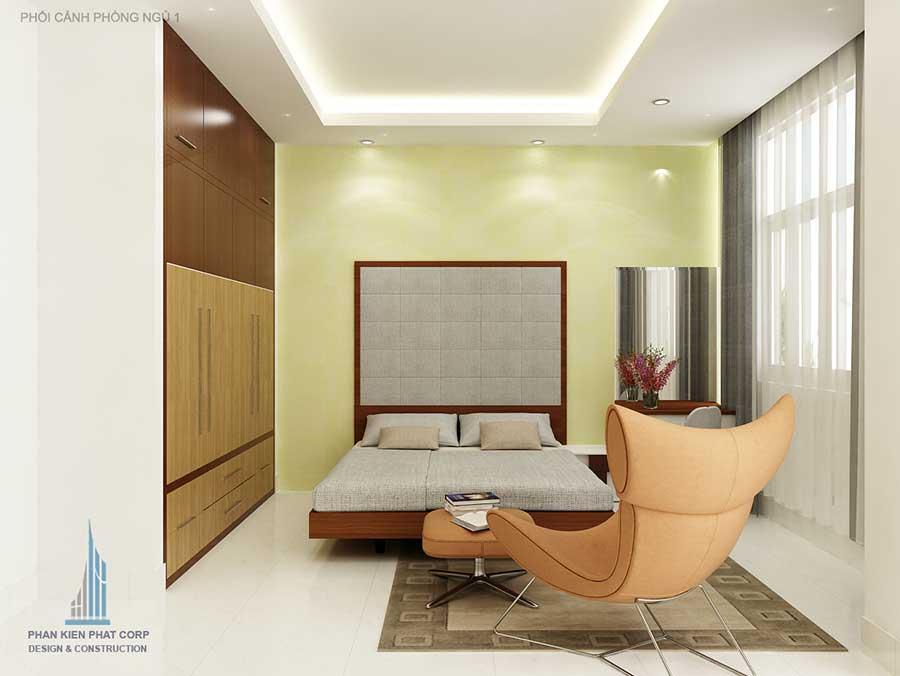 Thiết kế nhà 5x15m - Phòng ngủ 1 góc 1