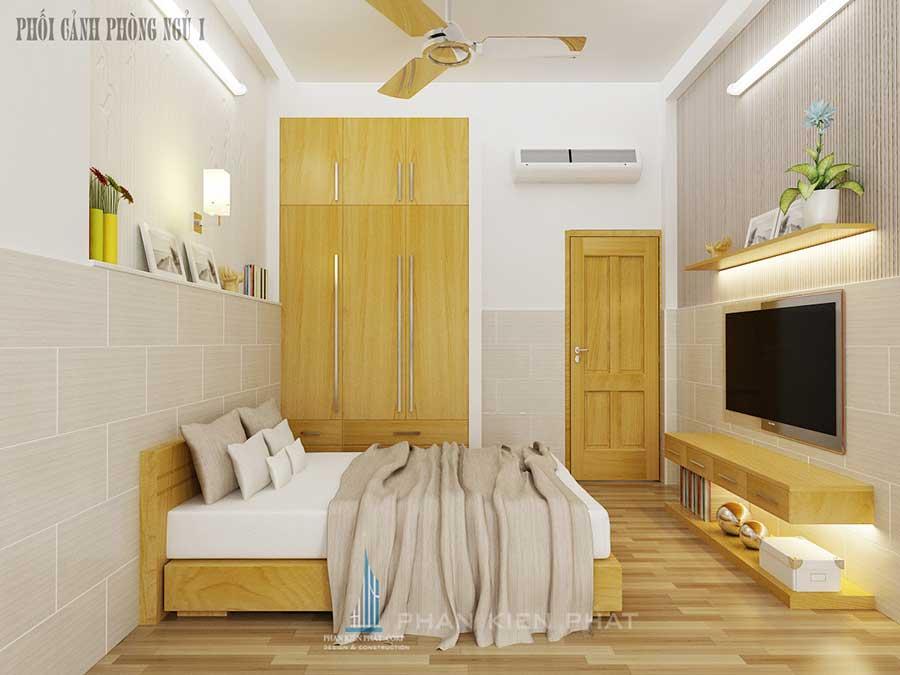 Xây nhà 4 tầng - Phòng ngủ 1 góc 1