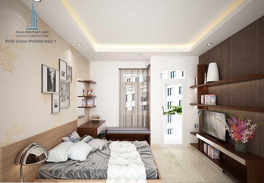 Phòng ngủ master - nhà phố 3 tầng hiện đại