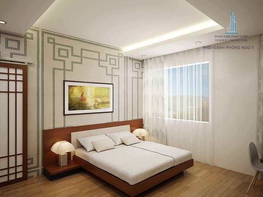 Phòng ngủ 1 - nhà 2 tầng sân vườn đẹp