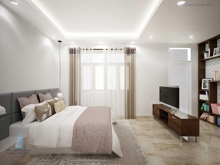 Phòng ngủ 1 góc 2 - nhà 3 tầng 8x14.5m
