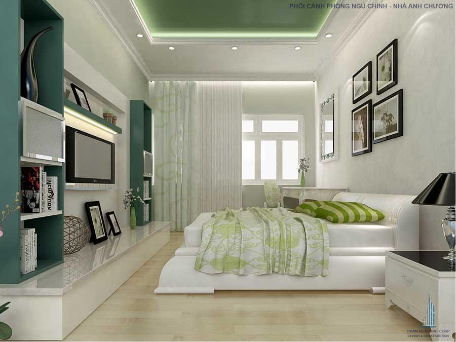 Phòng ngủ master - thiết kế nhà cấp 4
