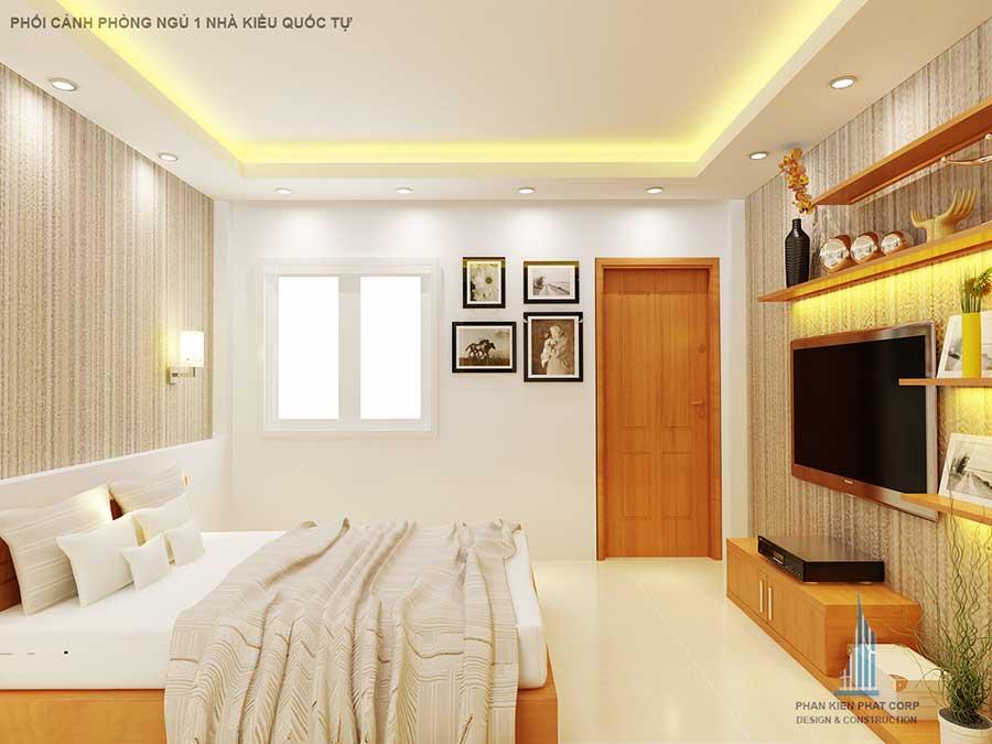 Thiết kế nhà 2 tầng - Phòng ngủ 1 góc 2