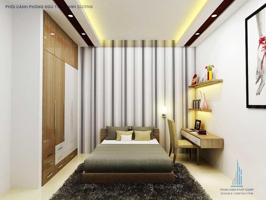 Nhà phố 2 tầng - Phòng ngủ 1 góc 2