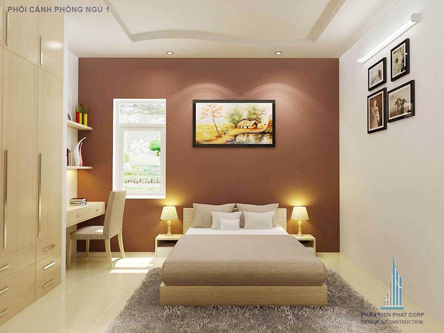 Phòng ngủ 1 - nhà phố 9x40m 2 tầng