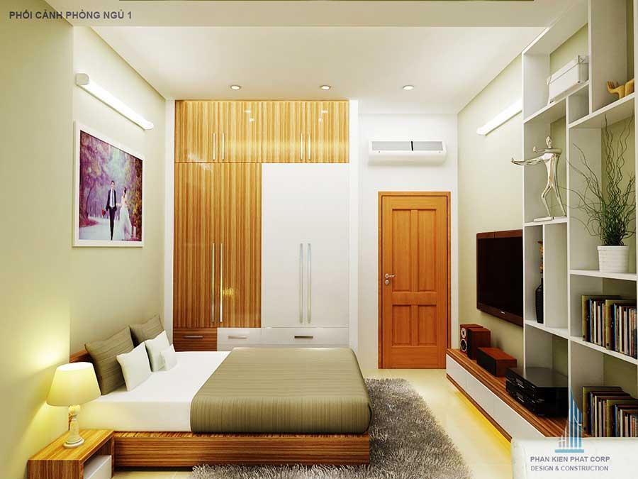 Nhà 3 tầng 5x15m - Phòng ngủ 1 góc 2
