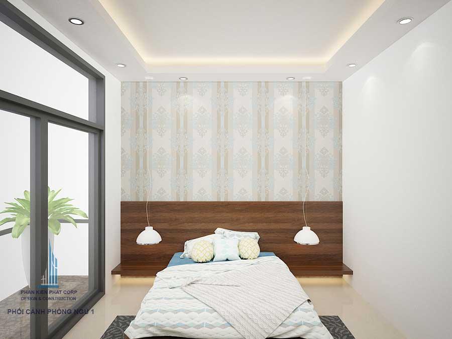 Phòng ngủ 1 - xây dựng nhà ở 3 tầng hiện đại