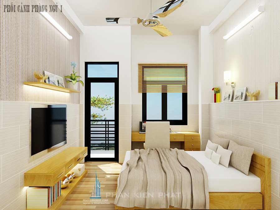 Xây nhà 4 tầng - Phòng ngủ 1 góc 2
