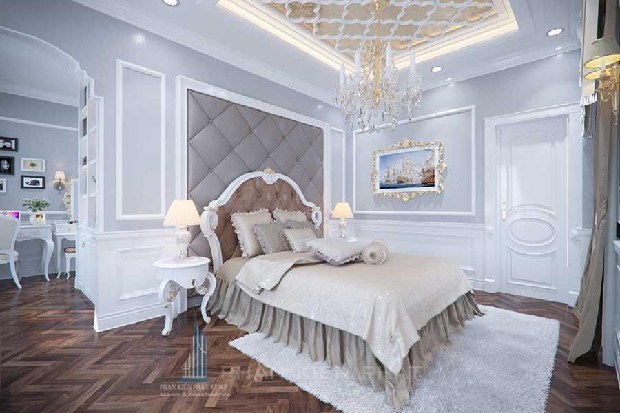 Thiết kế biệt thự cổ điển - Phòng ngủ 1 góc 3