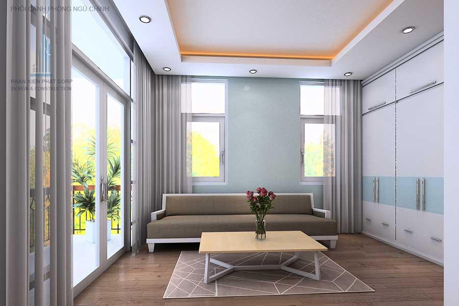 Thiết kế nhà 4 tầng - Phòng ngủ 1 góc 4