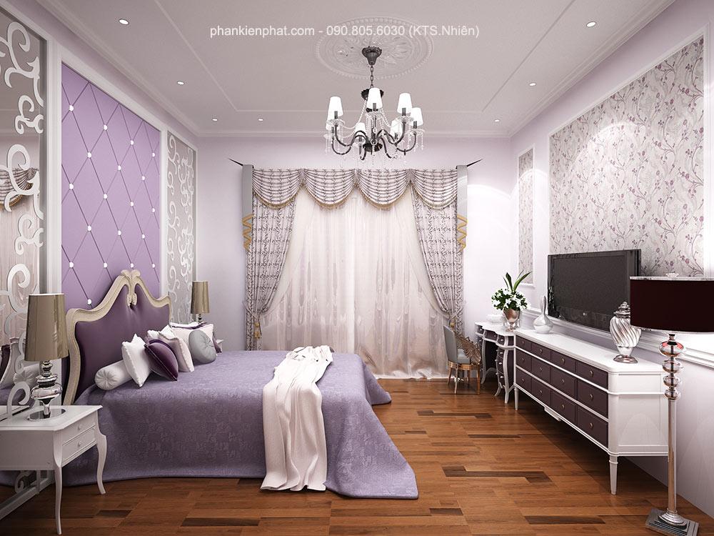 Phòng ngủ 1 view 1 nhà 1 trệt 2 tầng 8x12m