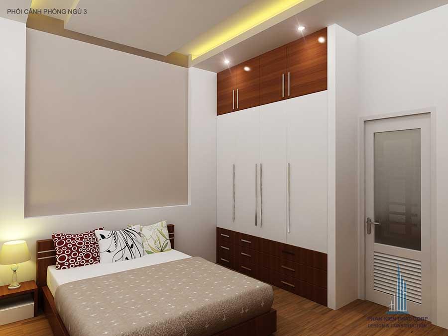Phòng ngủ - nhà 3 tầng hiện đại