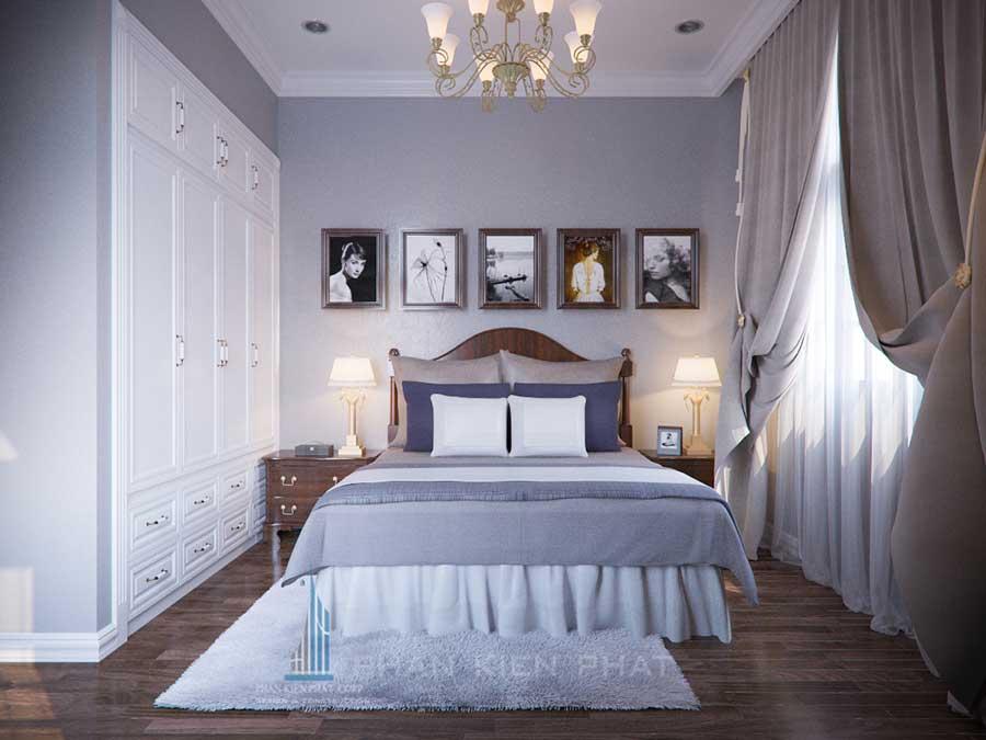 Biệt thự cổ điển - Phòng ngủ 2 góc 1