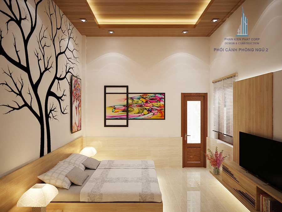 Phòng ngủ 2 của biệt thự cấp 4 sân vườn