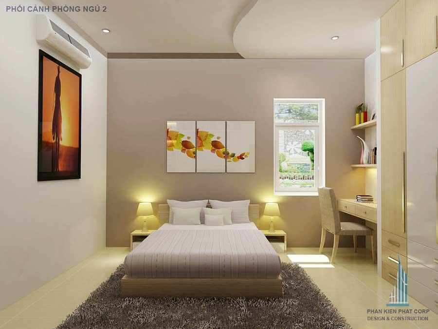 Thiết kế nhà 2 tầng - Phòng ngủ 2 góc 1