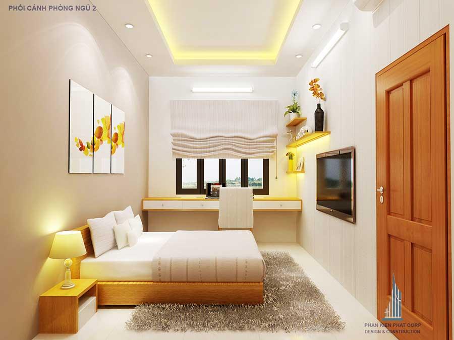 Phòng ngủ 2 - xây dựng biệt thự 5x15m phố