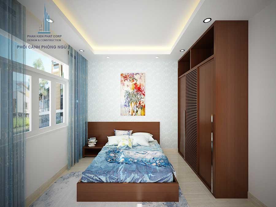 Thiết kế nhà 3 tầng - Phòng ngủ 2 góc 1