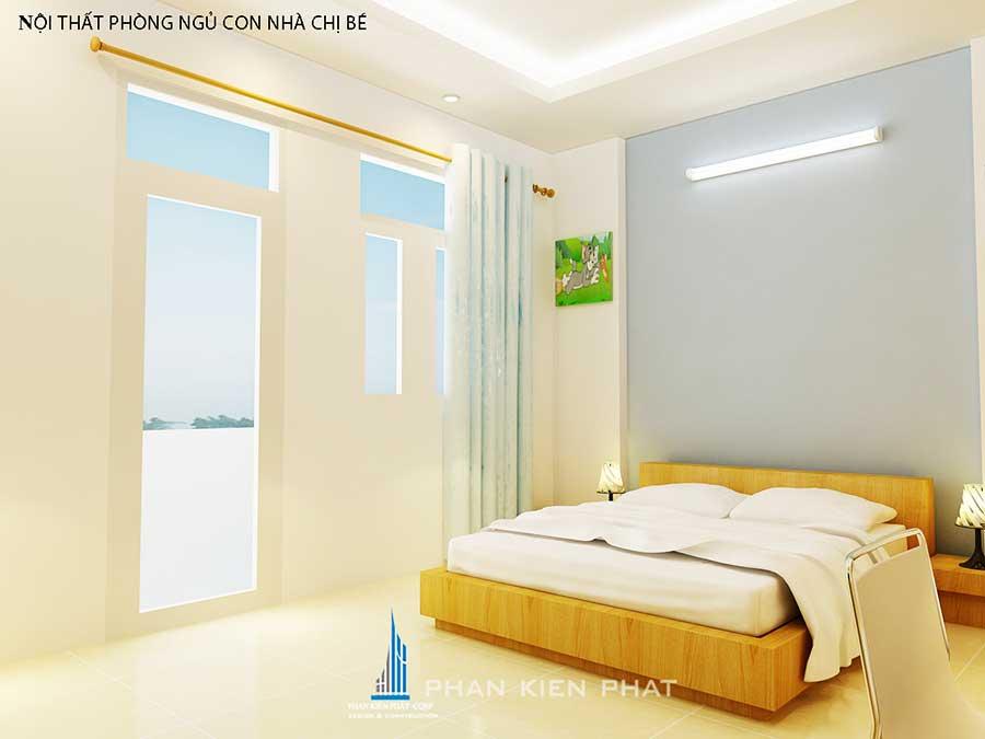 Nhà 3 tầng mặt phố - Phòng ngủ 2 góc 1