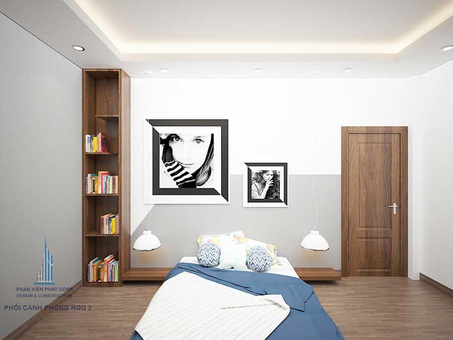 Phòng ngủ 2 - nhà 3 tầng mặt phố hiện đại