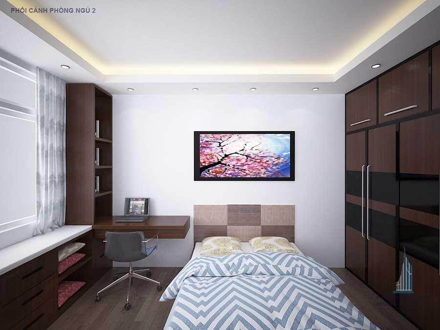 Thiết kế nhà phố - Phòng ngủ 2 góc 1