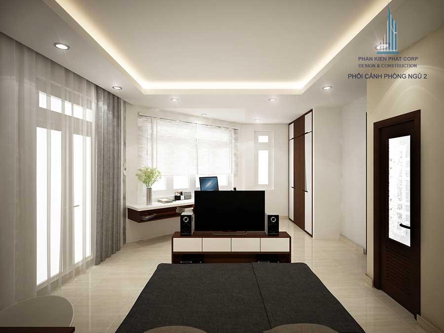 Nhà phố kinh doanh - Phòng ngủ 2 góc 1