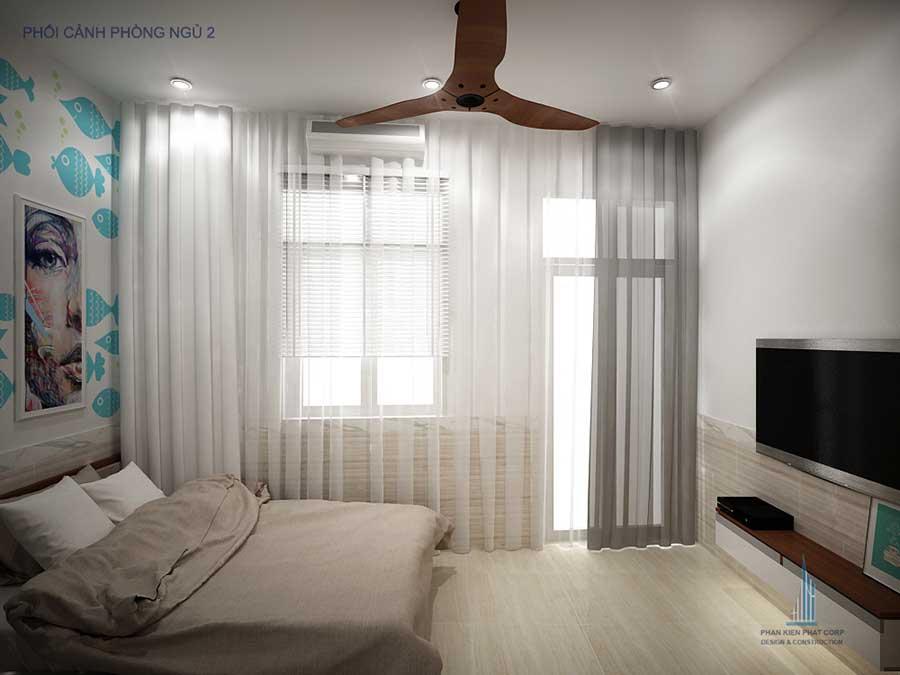 Phòng ngủ 2 góc 2 - thiết kế nhà phố