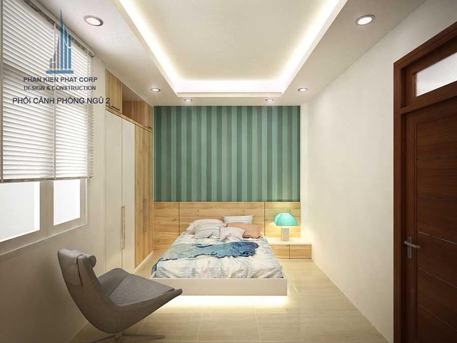 Phòng ngủ 2 góc 2 - nhà 3 tầng hiện đại