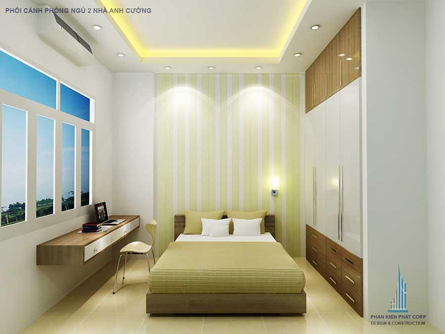 Phòng ngủ 2 góc 2 - nhà phố đơn giản