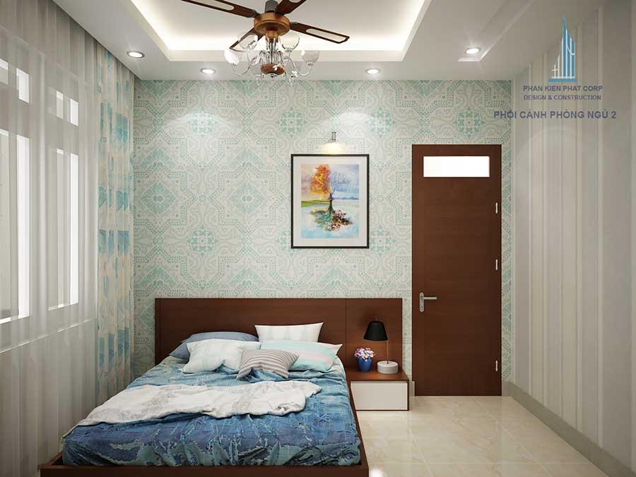 Thiết kế biệt thự mái tháisân vườn - Phòng ngủ 2 góc 2