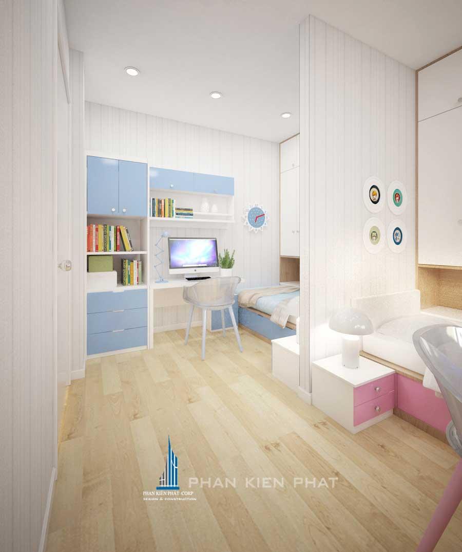 Thiết kế nội thất chung cư - Phòng ngủ 2 góc 2