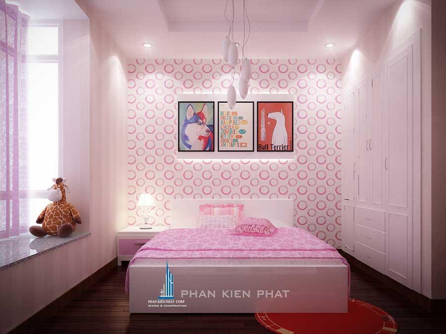 Phòng ngủ 2 view 2 của nội thất nhà chung cư