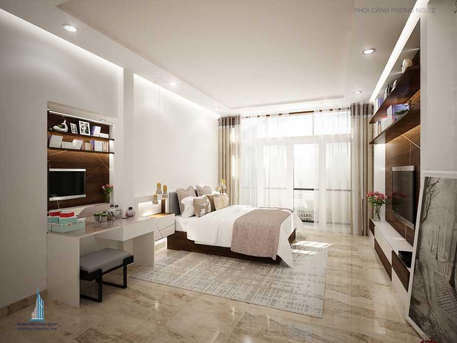 Phòng ngủ 2 góc 2 - nhà 3 tầng cổ điển