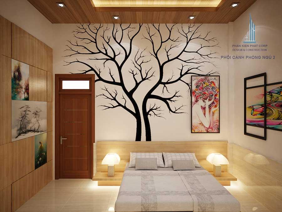 Phối cảnh phòng ngủ 2 góc 2