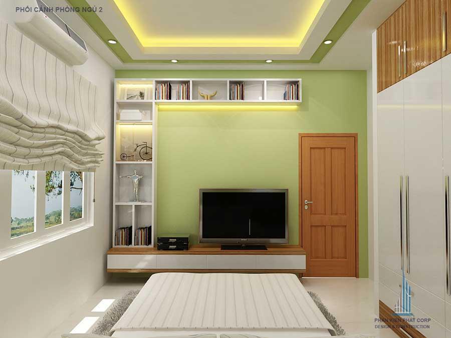 Phòng ngủ 2 góc 2 - công ty thi công xây nhà