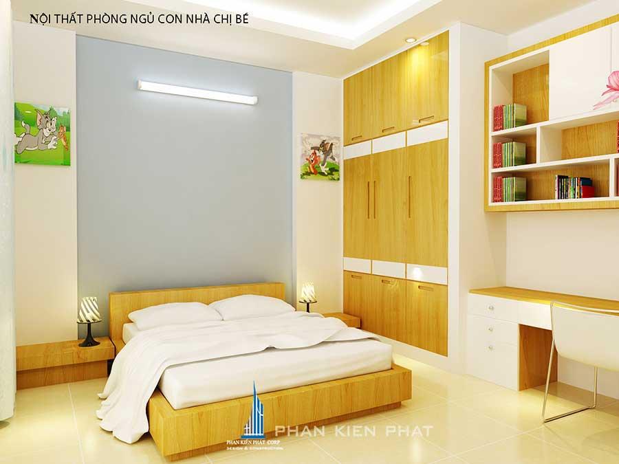 Phòng ngủ 2 - xây dựng nhà ở 3 tầng