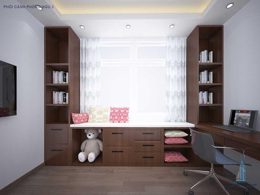 Thiết kế nhà 4 tầng - Phòng ngủ 2 góc 2
