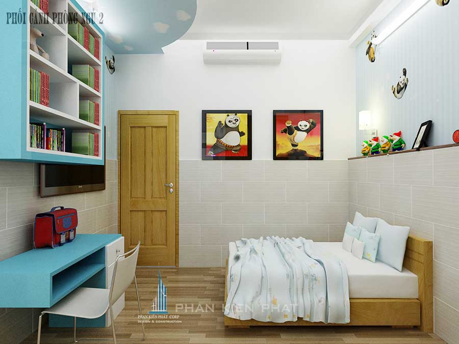 Nhà 4 tầng 4x20m - Phòng ngủ 2 góc 2