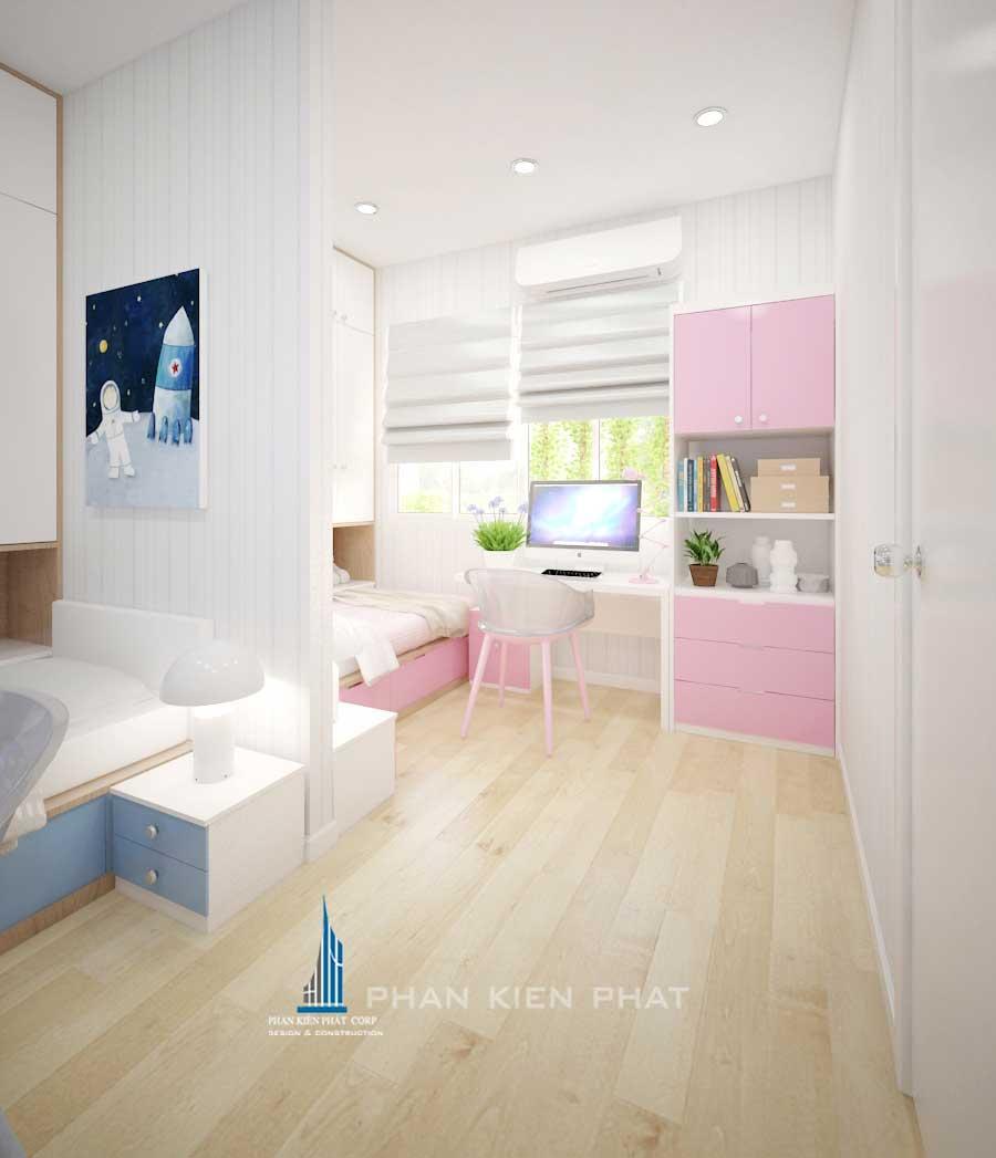 Thiết kế nội thất chung cư - Phòng ngủ 2 góc 3