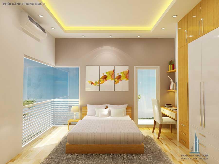Phòng ngủ 3- thi công xây nhà 2 tầng