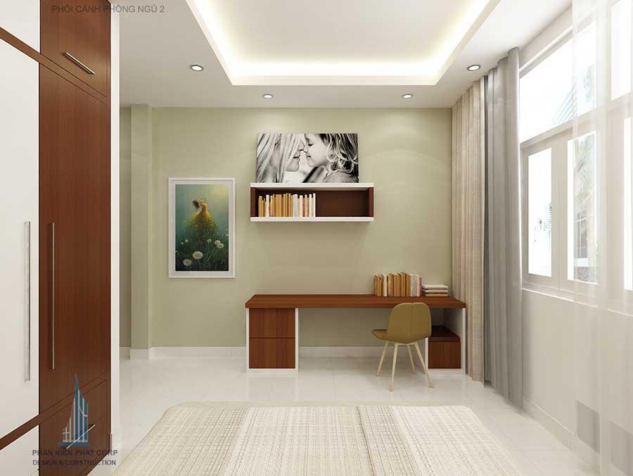 Thiết kế nhà 3 tầng 5x15m - Phòng ngủ 2 góc 3