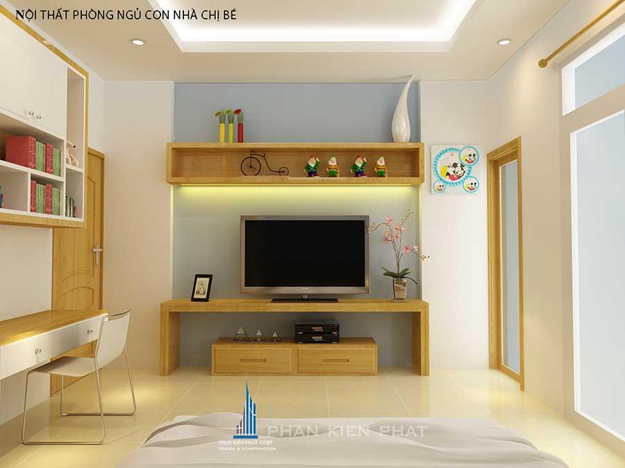 Thiết kế nhà phố - Phòng ngủ 2 góc 3