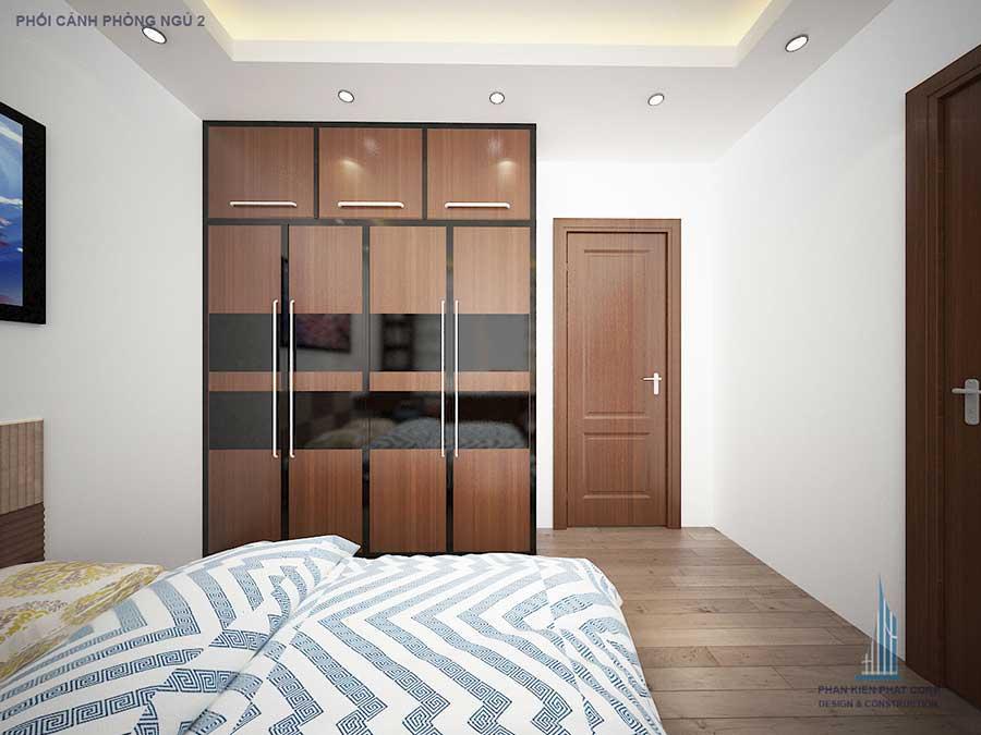 Nhà 4 tầng - Phòng ngủ 2 góc 3